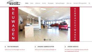 Webseite Kia Autoservice Fiolka