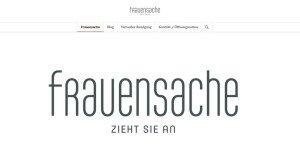 Webseite der Frauensache Würzburg