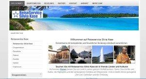 Webseite von Reiseservice Silvia Kase